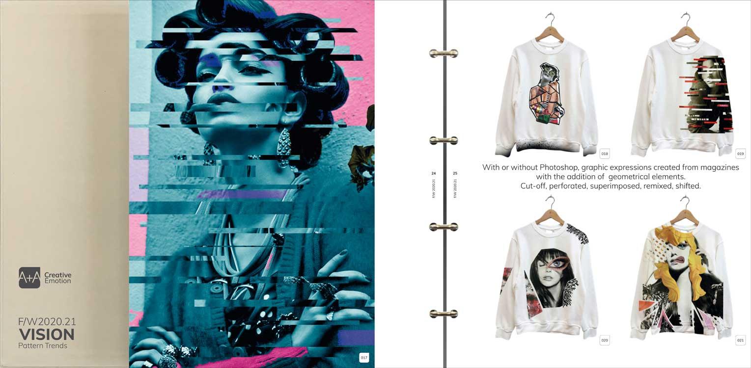 Graphic Design: A + A Vision Prints A/W 2020/21 incl